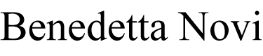 Benedetta Novi Logo